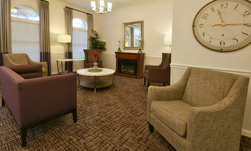 Fireside Lounge at Alexandria Place in Jackson, Tennessee