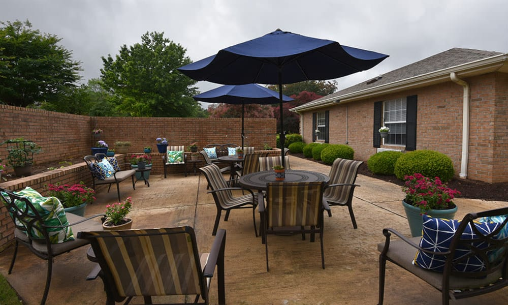 Outdoor Living Spaces at Alexandria Place in Jackson, Tennessee
