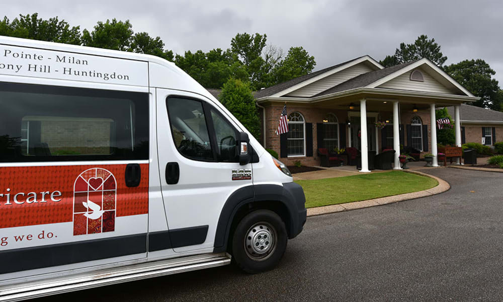 Transportation Van at Alexandria Place in Jackson, Tennessee