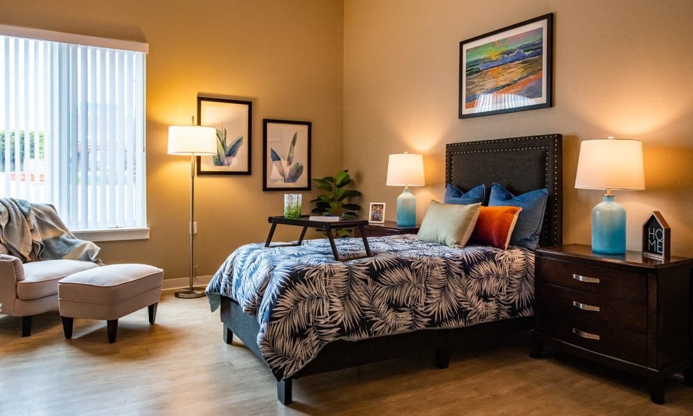 Private Suite at Seasons Memory Care at Rolling Hills in Torrance, California.