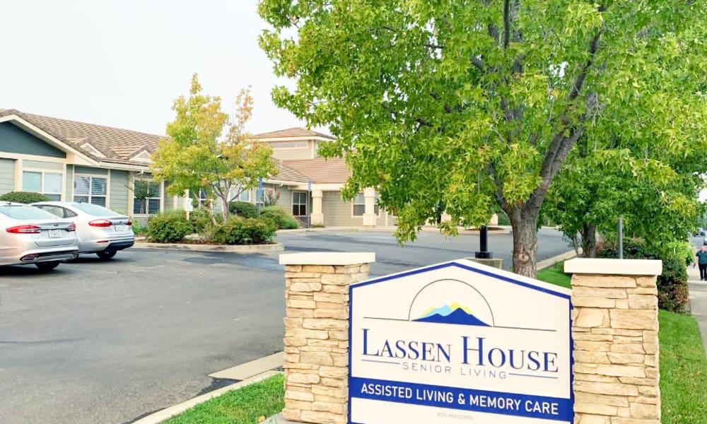 Community sign at Lassen House Senior Living in Red Bluff, California