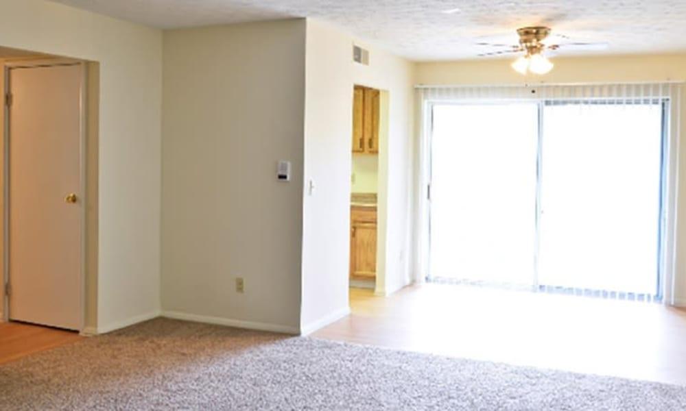 Spacious living room at Lafeuille Apartments in Cincinnati, Ohio