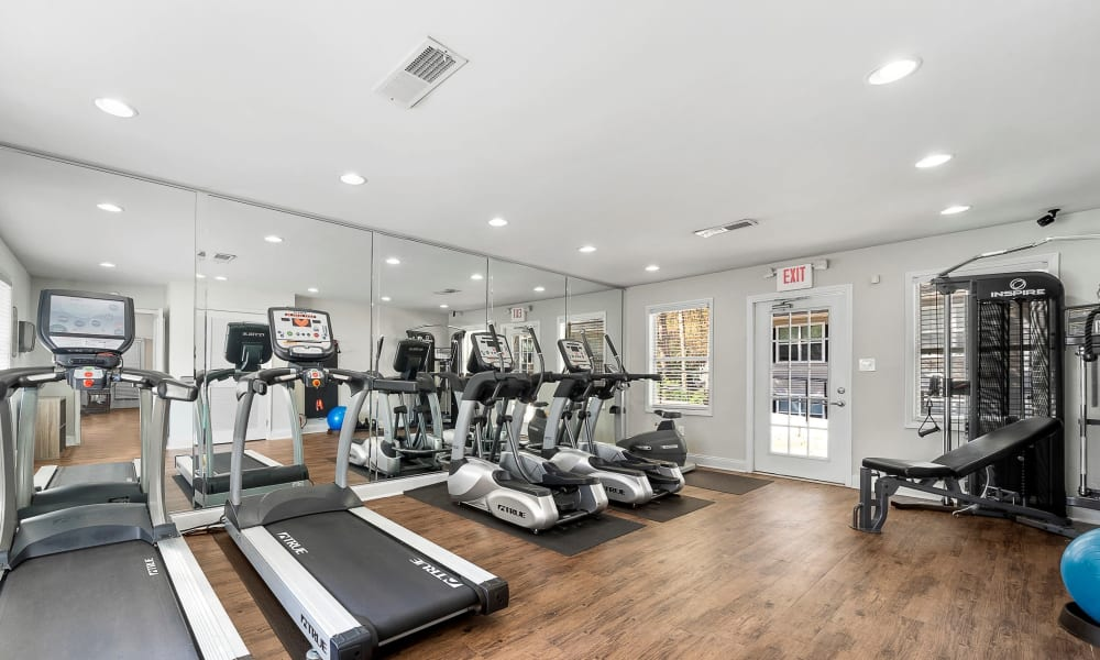 Fitness center at The Greens at Cascade Apartment Homes in Atlanta, Georgia