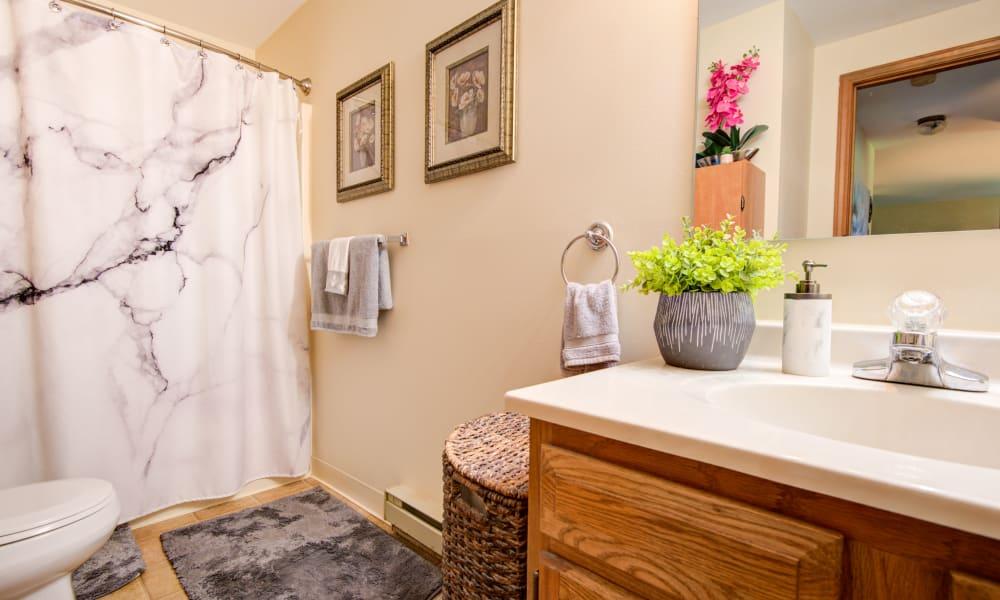 Bathroom at Kimbrook Manor Apartments in Baldwinsville, New York