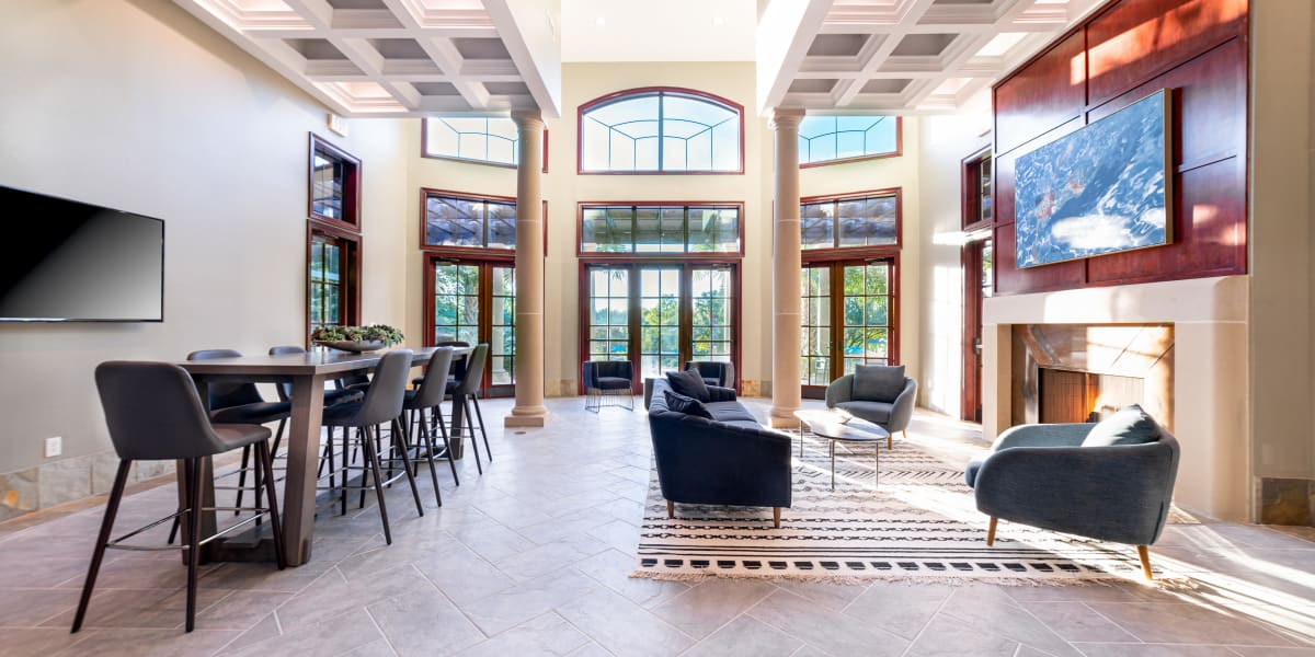 Interior lobby area at Marquis Parkside in Austin, Texas
