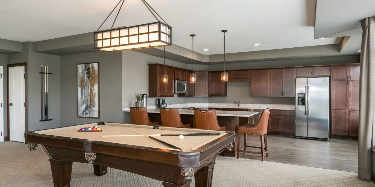 Game Room at Applewood Pointe of Westminster in Westminster, Colorado