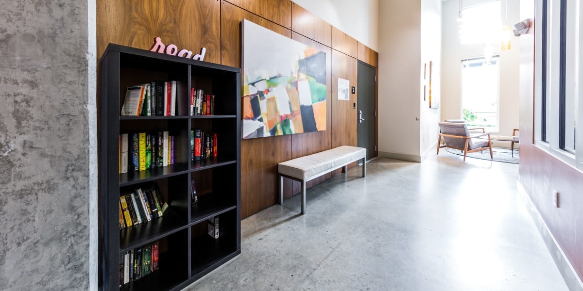 Bookcase at Marq West Seattle in Seattle, Washington