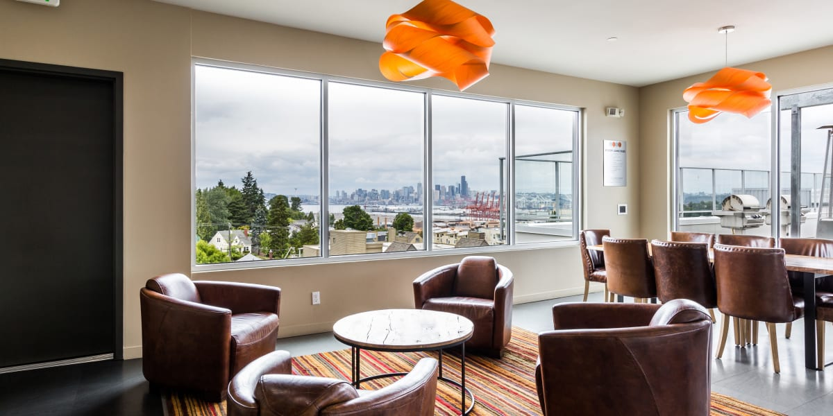 Clubroom with a view at Marq West Seattle in Seattle, Washington