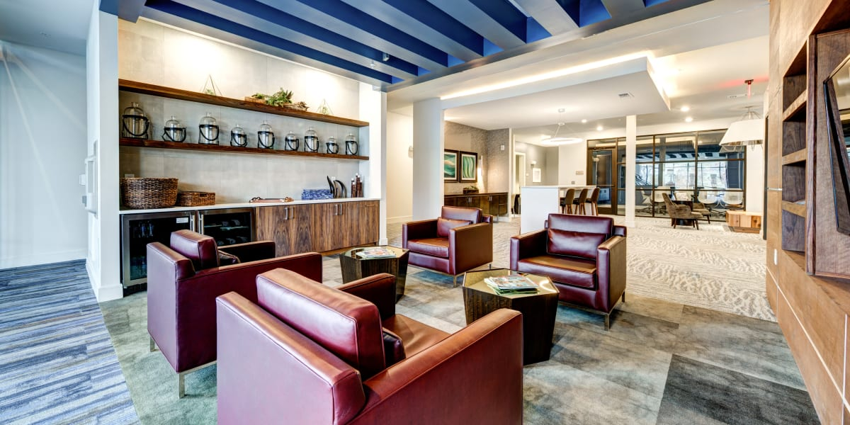 Clubroom lounge at Water Marq in Austin, Texas