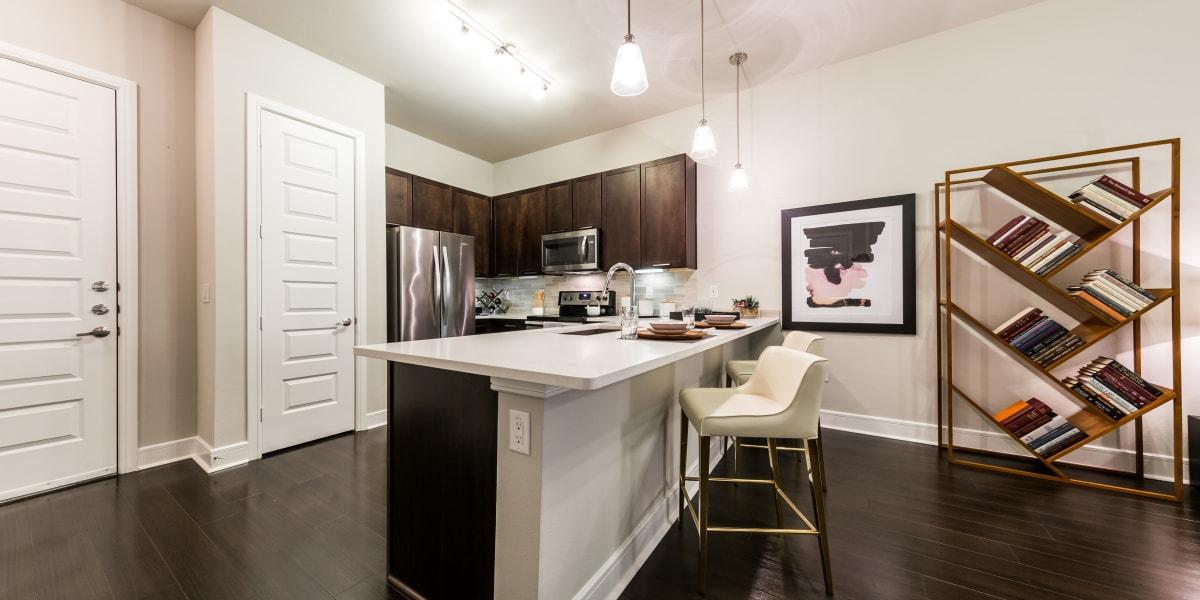 Kitchen island at Marq 31 in Houston, Texas