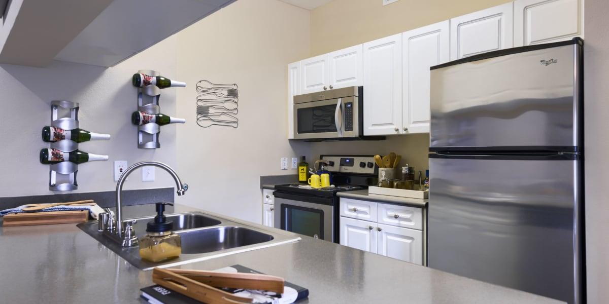 Kitchen at Whisper Creek Apartment Homes in Lakewood, Colorado