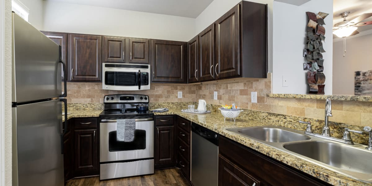 Kitchen at Marquis at Bellaire Ranch in Fort Worth, Texas