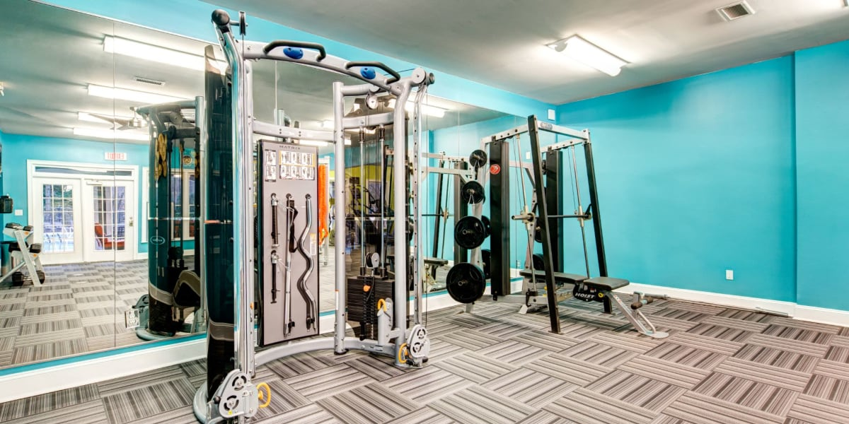 Fitness center at Marquis on Edwards Mill in Raleigh, North Carolina