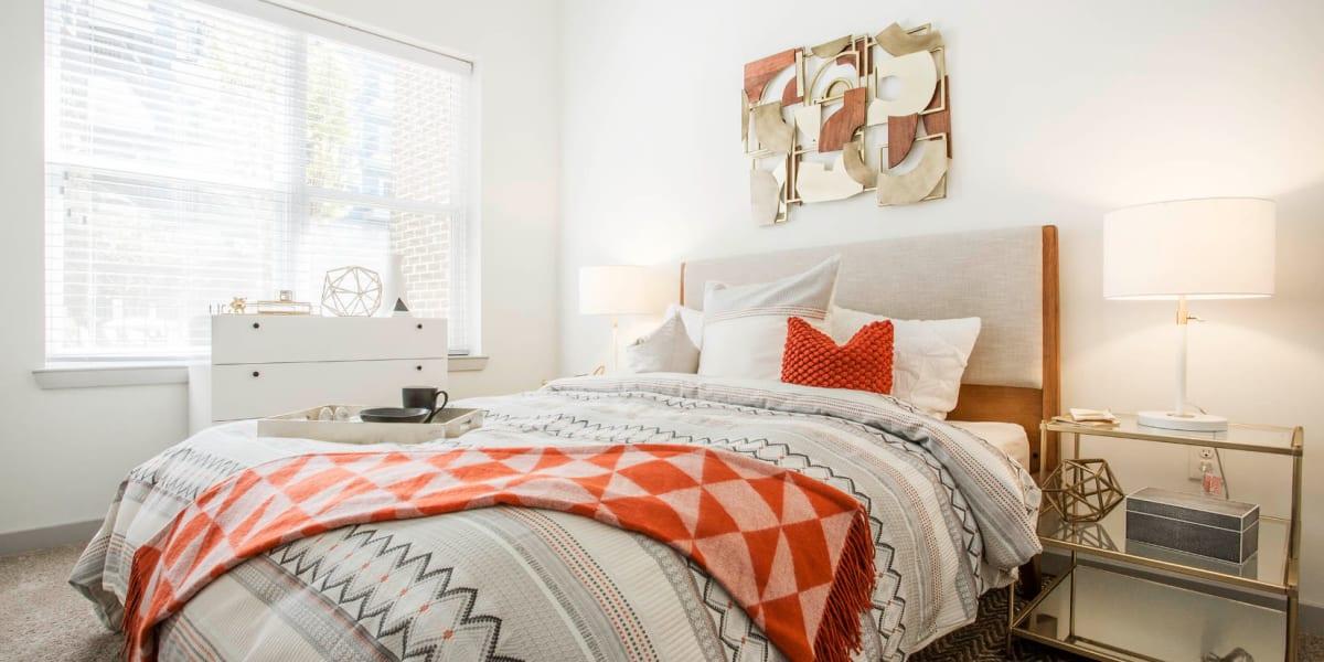 Bedroom at Marq Midtown 205 in Charlotte, North Carolina
