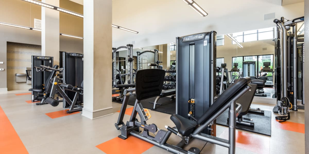 Fitness center at Marq Uptown in Austin, Texas
