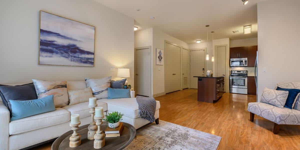 Living room at Sabina in Austin, Texas