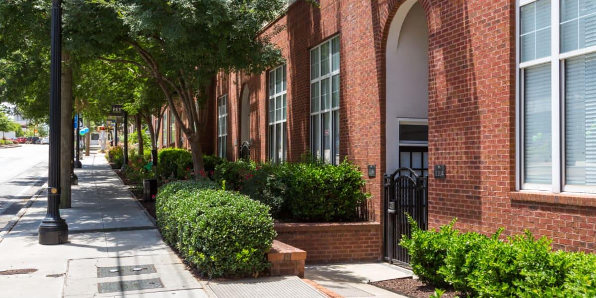 Sidewalk entrance to Marq on Ponce in Atlanta, Georgia