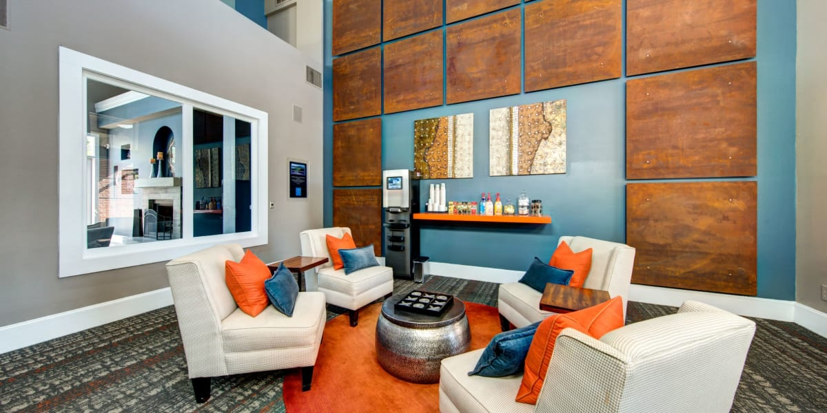 Office lounge at Marquis on Gaston in Dallas, Texas