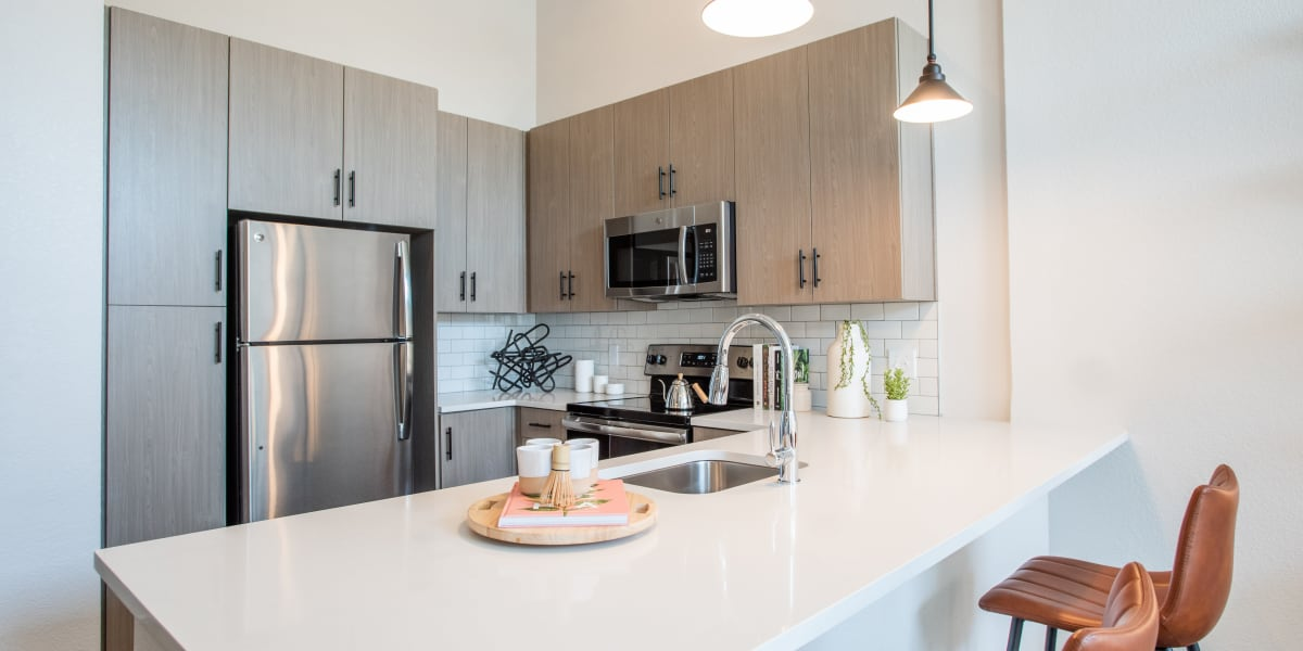 Kitchen at Marq Iliff Station in Aurora, Colorado