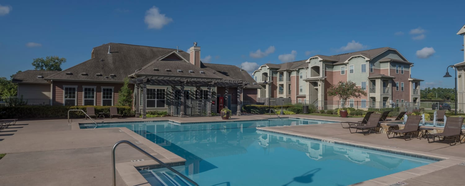 Our beautiful apartments at Cambria Cove Apartments  in Houston, Texas showcase a swimming pool