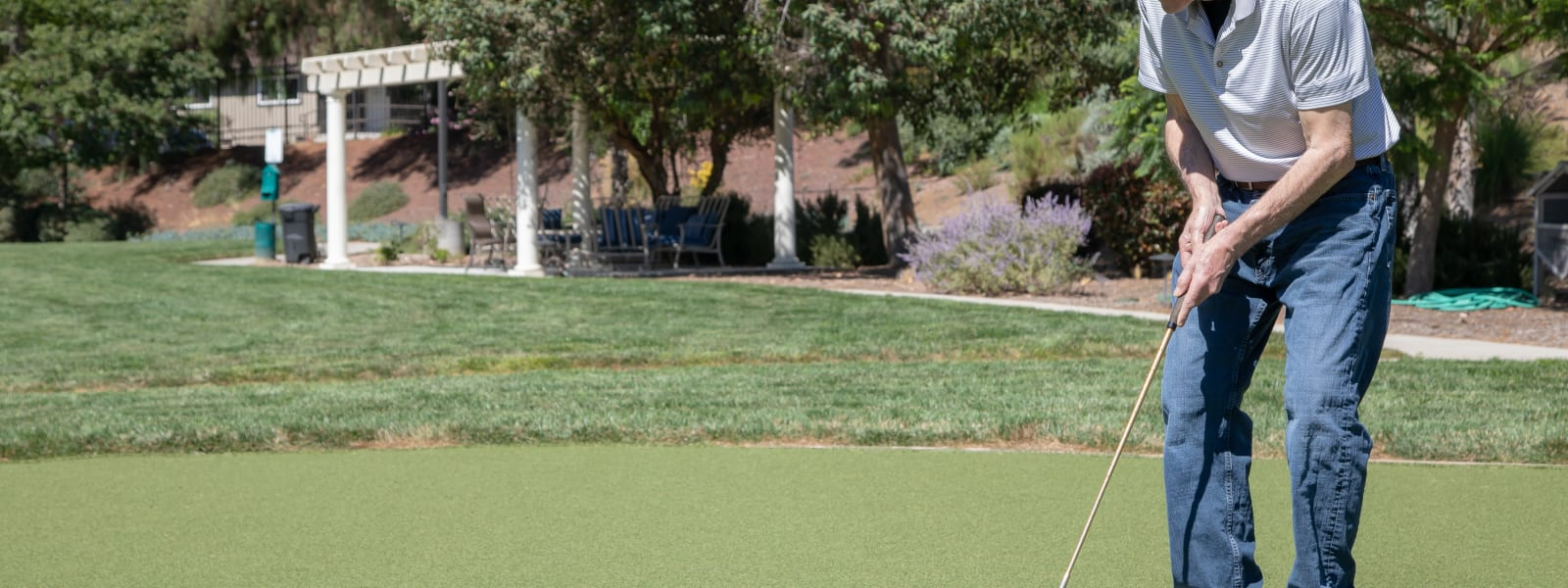 Putting green at Vista Gardens in Vista, California