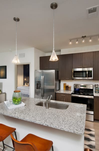 Kitchen island at Linden Crossroads in Orlando, Florida