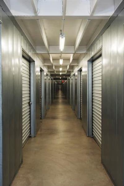 Storage units inside of Sorrento Mesa Self Storage in San Diego, California