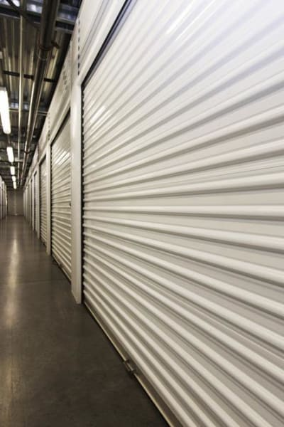Looking into a storage unit at Butterfield Ranch Self Storage in Temecula, California