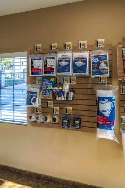 Packing and moving supplies available at National/54 Self Storage in National City, California