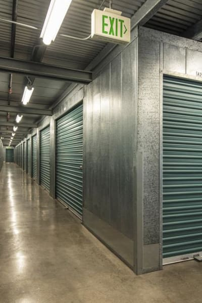 Looking into a storage unit at Poway Road Mini Storage in Poway, California