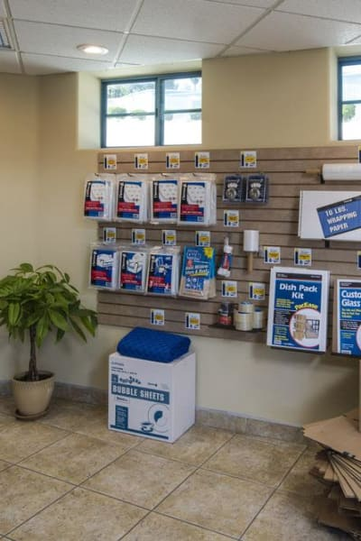 Packing and moving supplies available at Smart Self Storage of Solana Beach in Solana Beach, California