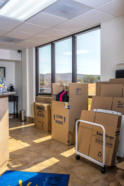Packing and moving supplies available at San Marcos Mini Storage in San Marcos, California