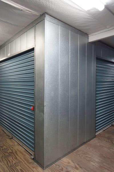 Storage units inside of Otay Mesa Self Storage in San Diego, California