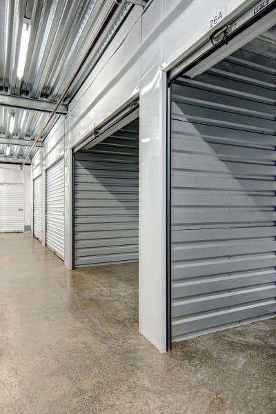 Storage units inside of San Marcos Mini Storage in San Marcos, California