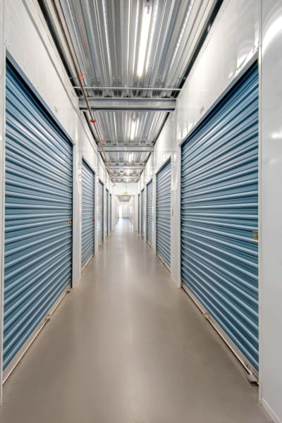 Storage units inside of Jamacha Point Self Storage in Spring Valley, California
