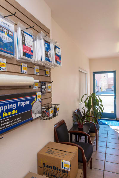 Packing and moving supplies available at Otay Mesa Self Storage in San Diego, California