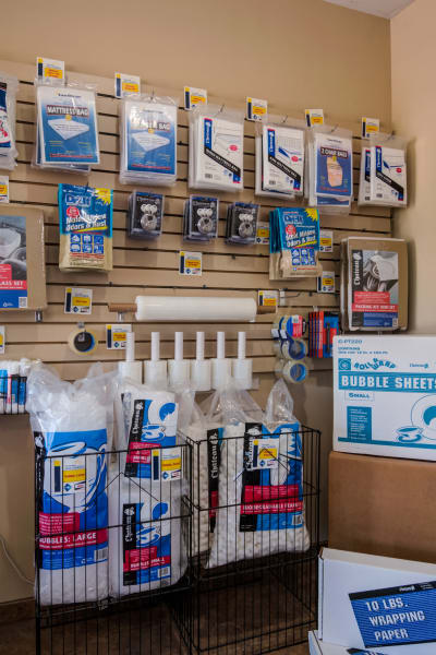 Packing and moving supplies available at Sorrento Mesa Self Storage in San Diego, California