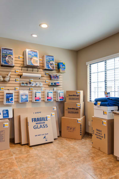 Packing and moving supplies available at Poway Road Mini Storage in Poway, California