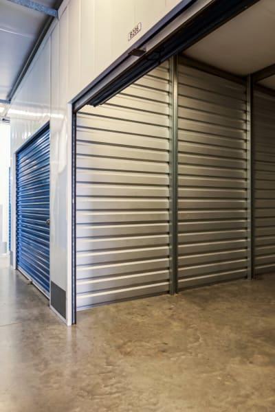 Storage units inside of Otay Crossing Self Storage in San Diego, California