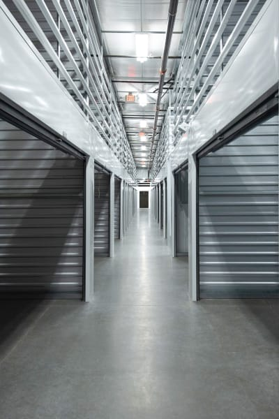 Storage units inside of Encinitas Self Storage in Encinitas, California