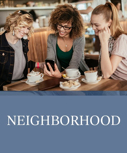 Neighborhood at The Manchester Apartments in Euless, Texas