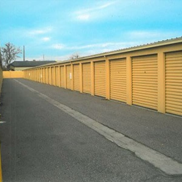 Large outdoor storage units at StorQuest Self Storage in Modesto, California