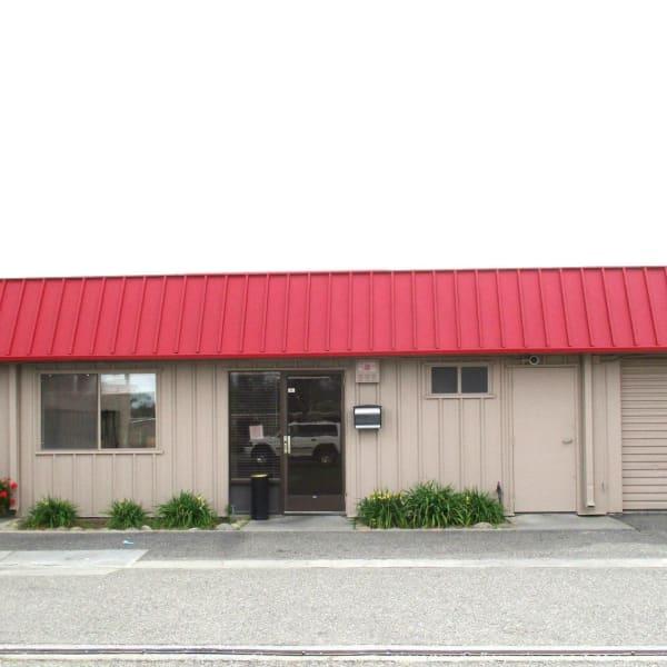 The main entrance at StorQuest Self Storage in Modesto, California
