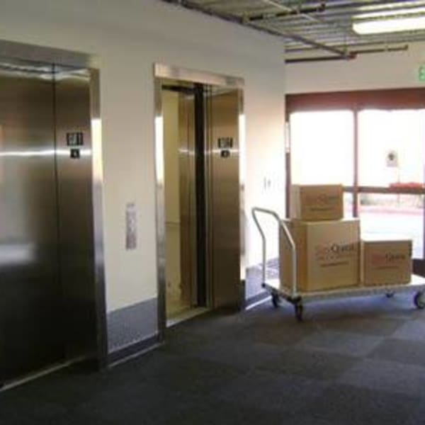 Flat carts available to assist moving your items at StorQuest Self Storage in Thousand Oaks, California