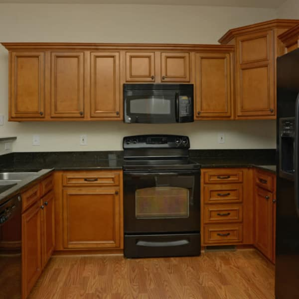 Luxury kitchen at The Reserve apartments