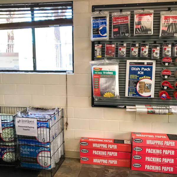Packing supplies sold at StorQuest Self Storage in Westlake Village, California