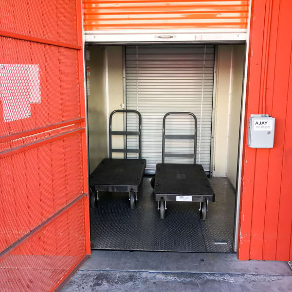 Flat carts available to assist moving your items at StorQuest Self Storage in Westlake Village, California