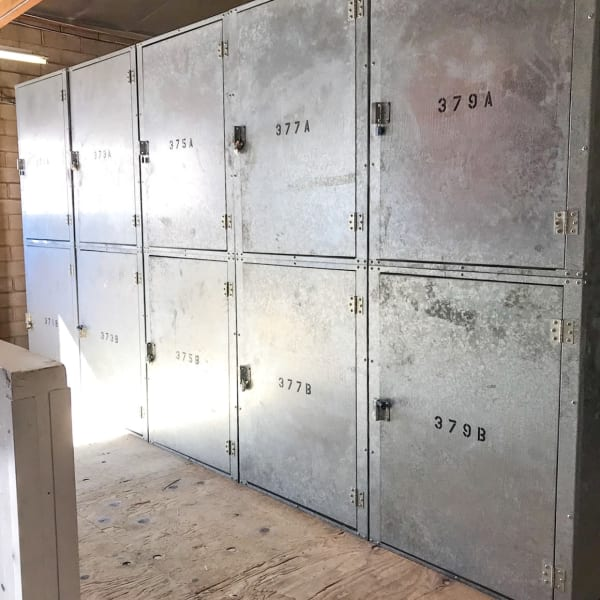 Metal doors on indoor units at StorQuest Self Storage in Westlake Village, California