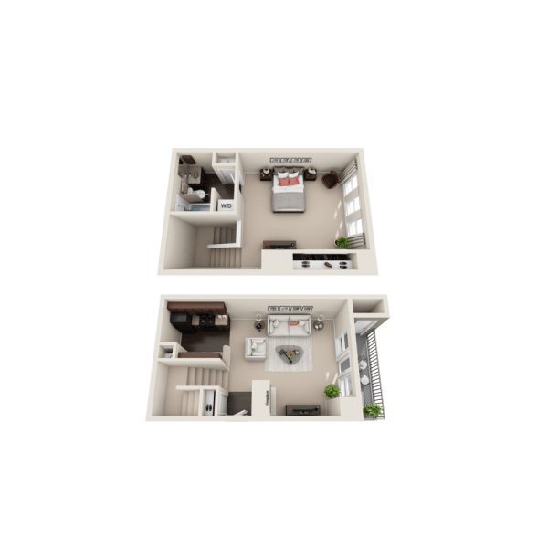 A2 floor plan at Enclave at Water's Edge Apartments