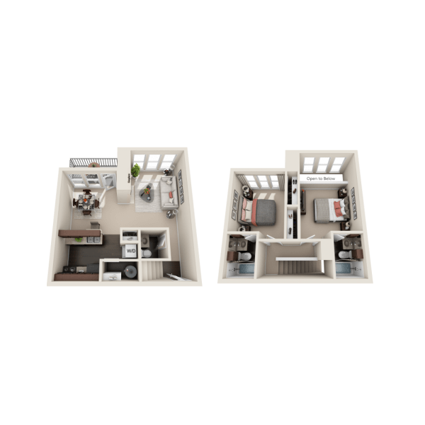 B1 floor plan at Enclave at Water's Edge Apartments